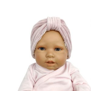 Lekkere warme oortjes met deze haarband van roze rib. Bestel hem nu voor het nog kouder wordt.